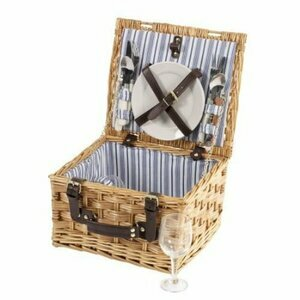 Sandringham Wicker Picnic Basket for Two People