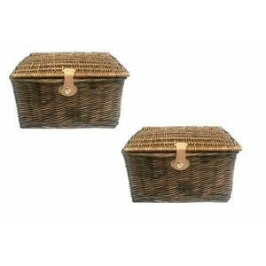 topfurnishing Traditional Wicker Willow Picnic Hamper [Set of 2 - Large]