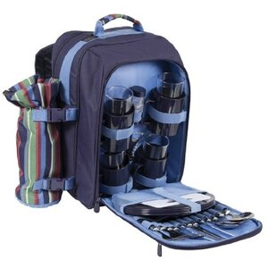 Striped Picnic Rucksack for Four People
