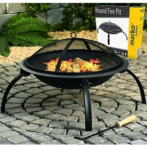 Round Fire Pit Folding Patio Garden Bowl