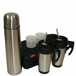Stainless Steel Thermos Flask and Mug Set