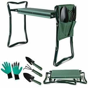Masthome Garden Kneeler Seat with 3 Piece Garden Tools Set