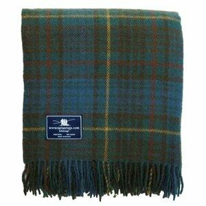 Tweedmill Textiles Antique Hunting Stewart Tartan Premium Wool Travel Rug