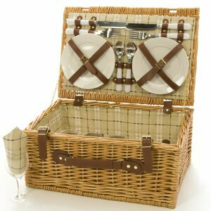 Family Occasions Wicker Picnic Basket for Four
