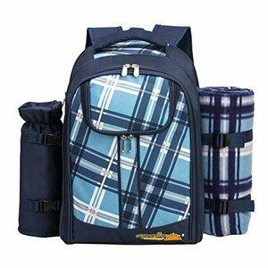 Apollo walker 2 Person Picnic Backpack Picnic Bag (Blue)