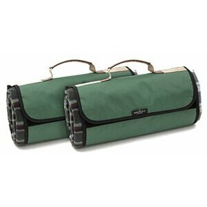 Greenfield Collection Green Plaid Moisture Resistant Picnic Blankets x 2