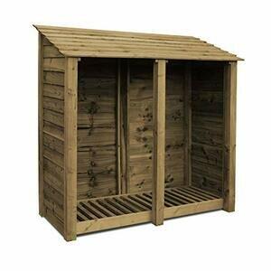Rutland County Garden Furniture Normanton 6ft Tall Log Store (Rustic Brown)