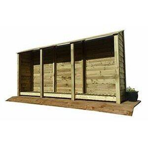 Arbor Garden Solutions Extra Large Wooden Log Store 6Ft  (Light Green)