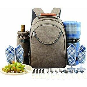 GEEZY Picnic Cool Bag Backpack Hamper Wine Cooler