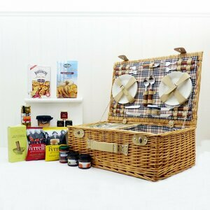 Fine Foods Grosvenor 4 Person Picnic Basket with Summer Food Selection