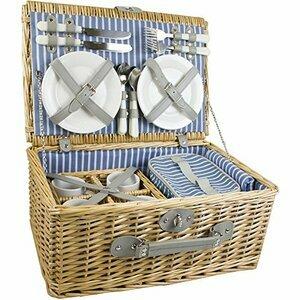 Yellowstone Luxury Outdoor Wicker Basket for 4