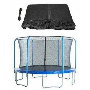 Upper Bounce Trampoline Replacement Enclosure Safety Net Fits For 12' Frames With 8 Poles - NET ONLY