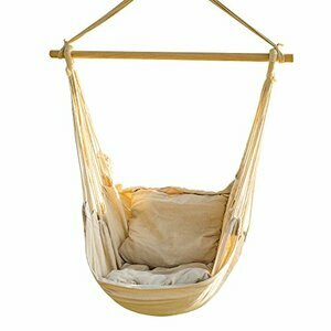 CCTRO Hanging Rope Hammock Chair Swing Seat