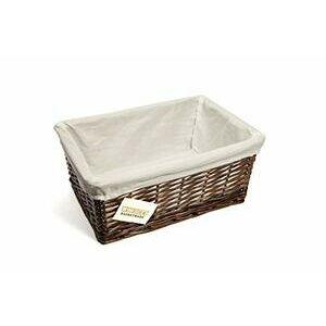 woodluv Brown Wicker Storage Basket