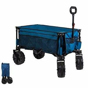 Timber Ridge Folding Outdoor Cart (Blue)