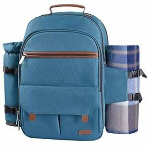 Sunflora Picnic Backpack for 4 (Light Blue)