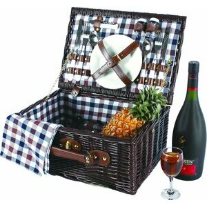 VivoCountry 2 Person Willow Picnic Hamper