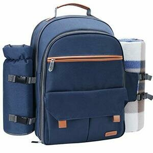 Sunflora Picnic Backpack for 4 (Navy Blue)