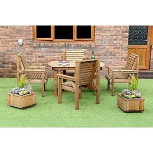 Wooden Patio Furniture Set