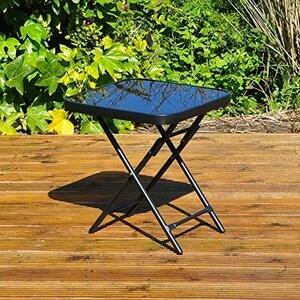 Kingfisher FSDT Folding Garden Patio Table - Black