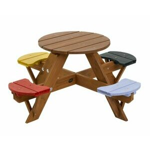 Plum Children's Garden Table with Seats