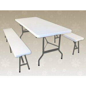 Deuba & Co Portable Picnic Table & Bench Set