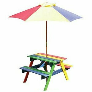 Kids Wooden Picnic Table