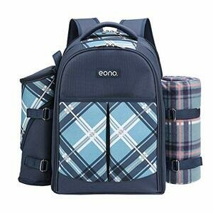 Eono by Amazon - 4 Person Picnic Backpack Hamper Cooler Bag