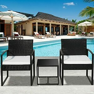 blackpoolal Rattan Wicker Garden Furniture Set