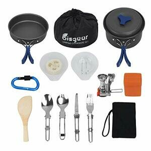 Bisgear 14 Piece Camping Cookware Stove set