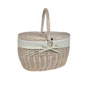 Choice Baskets Double Lidded Picnic Basket for Two