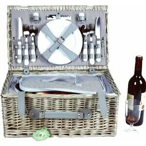Bentley Explorer Willow Wicker Basket for 4 people