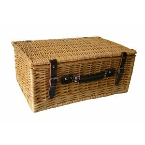 "The Uppercrust 16"" Willow Picnic Basket"