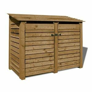 Rutland County Garden Furniture Cottesmore 4ft Tall Log Store (Solid Log Store With Door, Rustic Brown)