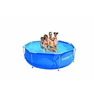 Avenlur Stainless Steel Above Ground Swimming Pool (10ft x 30in deep)