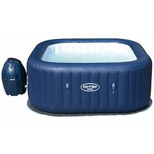 Lay-Z-Spa Hawaii Hot Tub, Airjet Square Inflatable Spa - 4-6 People