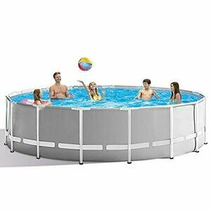 12ft x 30in Round Metal Frame Above Ground Swimming Pool Grey (No Pump)