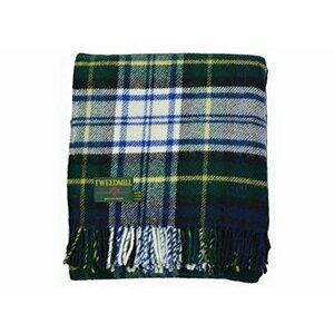 Tweedmill Textiles Dress Gordon Tartan Premium Wool Travel Rug