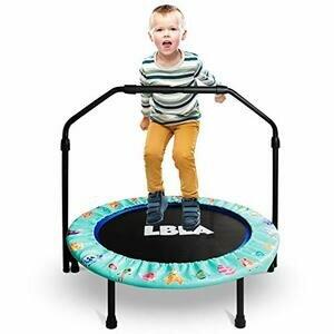 36-Inch Kids Trampoline Little Trampoline with Adjustable Handrail