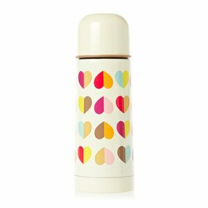 Confetti Hearts Insulated Travel Flask