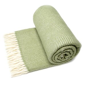 National Trust Light Green Herringbone Rug