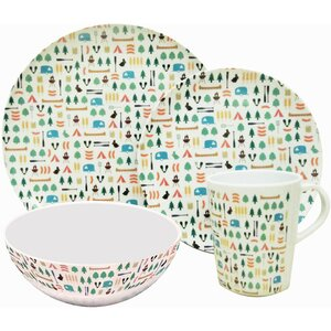 OLPro Berrow Hill Melamine Dinner Set 8Pk