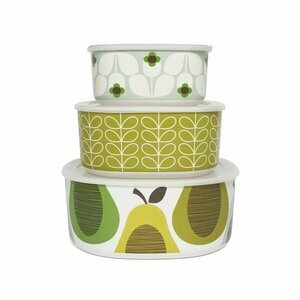Orla Kiely Melamine Giant Pear Peppermint Storage Bowls