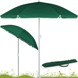 Parasol 180cm Green Sunshade Beach Umbrella