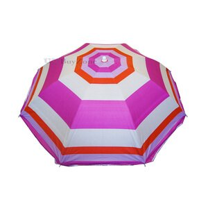 Pink Striped Garden Beach Umbrella Parasol
