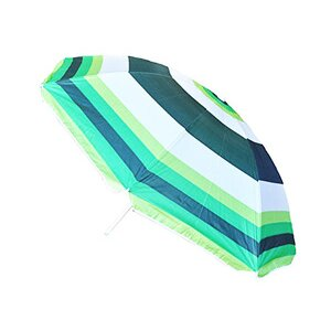 Striped Beach Parasol Green