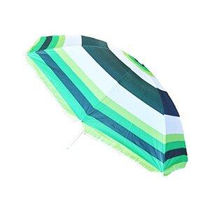 Striped Beach Parasol Green