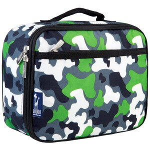Wildkin Kids Green Camo Lunch Box Green
