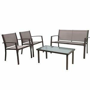 Garden Furniture Set, Outdoor 4 piece (Brown)