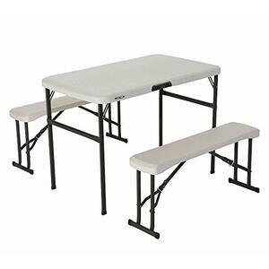 Recreation Folding Table Set - Almond - 80352